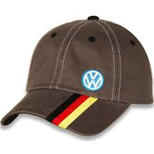 VW Retro Style Hat with Logo and German Stripes