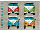 VW Camper Colour Quad Metal Wall Sign - Cool VW Stuff  - 1