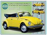 VW Beetle Cabriolet Metal Wall Sign - Cool VW Stuff  - 1