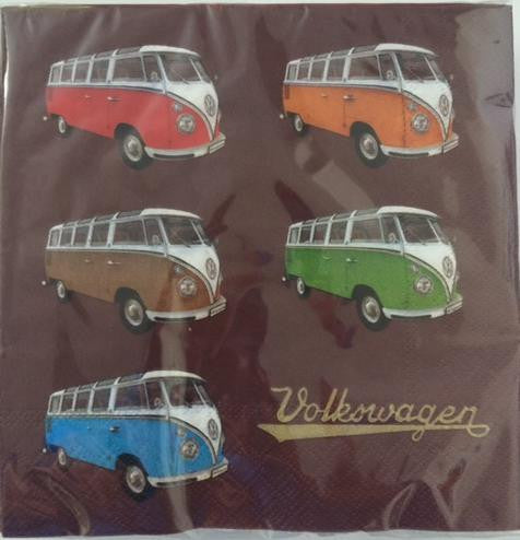 VW Bus Napkin Set Pack of 20-Split Window Busses - Cool VW Stuff  - 1