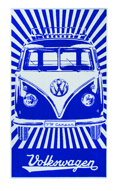 VW Bus Beach Towel - Blue - Cool VW Stuff