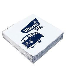 VW Bus Napkin Set Pack of 20-The Ultimate Ride - Cool VW Stuff  - 3