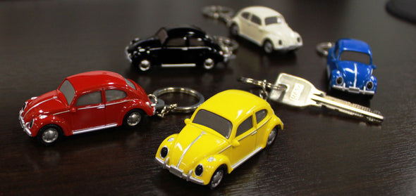 Volkswagen VW Classic Beetle Keychain Keylight Flashlight - Blue - Cool VW Stuff  - 5