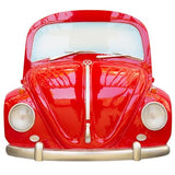 Volkswagen Beetle 1967 Red Bug Front End Wall Decor with Head Lights