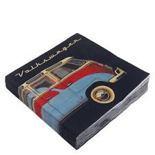 VW Bus Napkin Set Pack of 20-Classic Collection - Cool VW Stuff  - 3