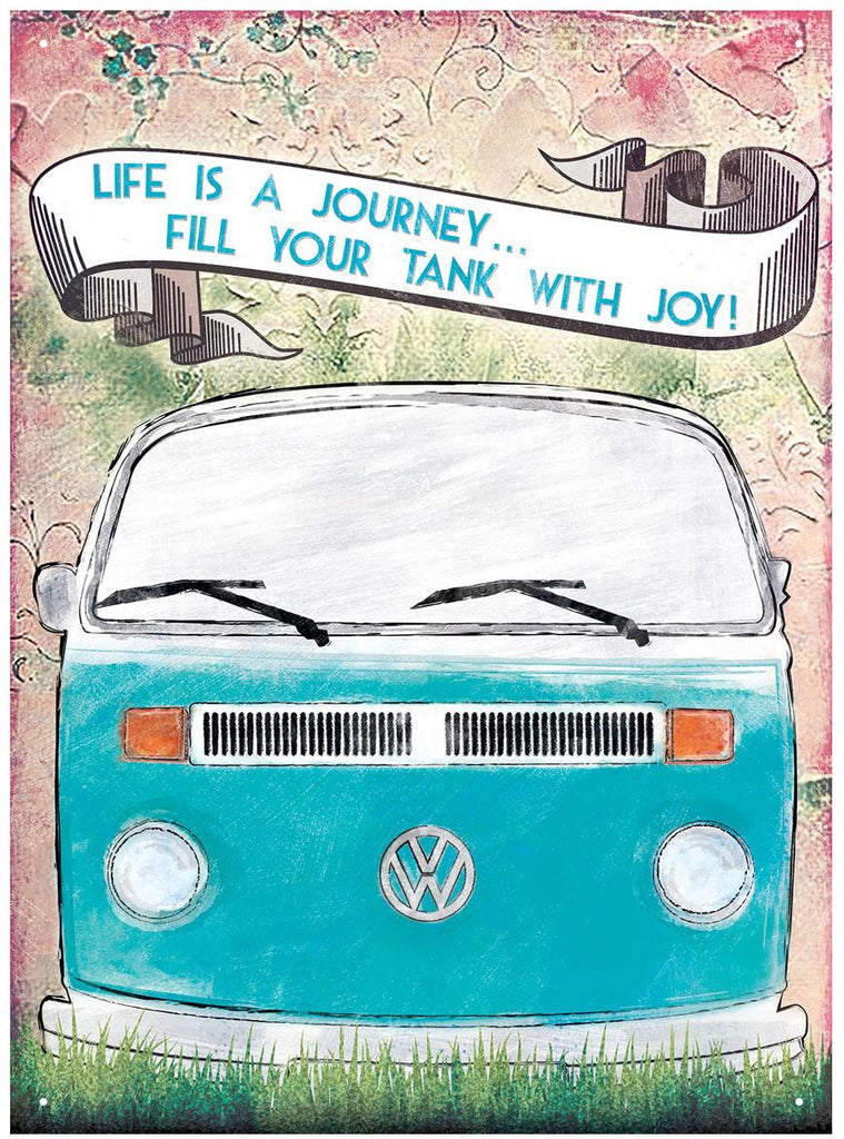 VW Life is a Journey Metal Wall Sign - Cool VW Stuff