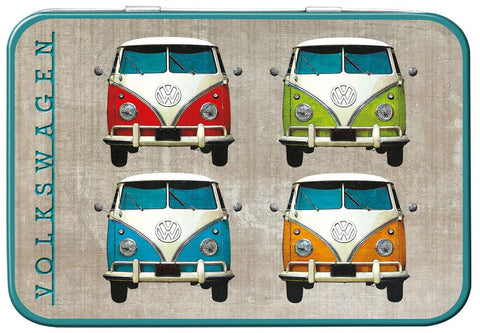 VW Camper Colour Quad Keepsake Tin - Cool VW Stuff  - 1