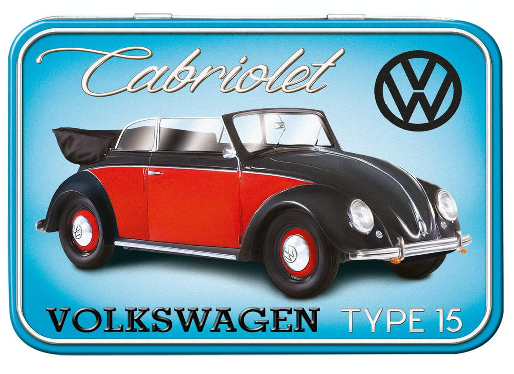 VW Beetle Cabriolet Type 15 Keepsake Tin - Cool VW Stuff