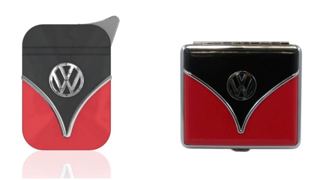 VW Bus Lighter and Cigarette Case Gift Set-Red & Black - Cool VW Stuff  - 1
