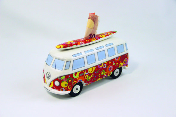VW Bus Money Bank with Surfboard-Spirals - Cool VW Stuff  - 1