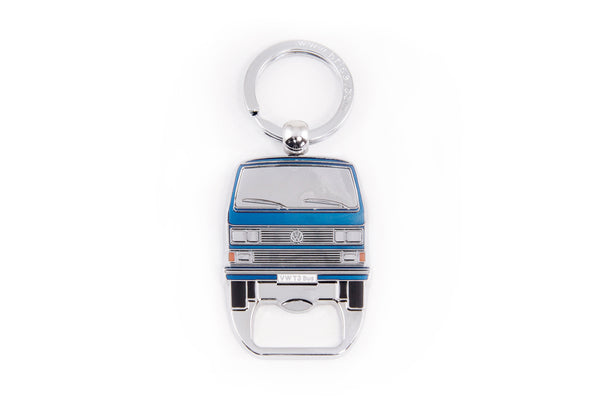 Volkswagen Vanagon T3 Bus Key Ring & Bottle Opener - Blue CT3KH42