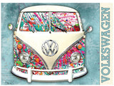 VW Camper Paint Splat Metal Wall Sign - Cool VW Stuff  - 1