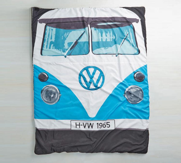 3 Season Blue Bus Sleeping Bag/Blanket - Cool VW Stuff  - 4