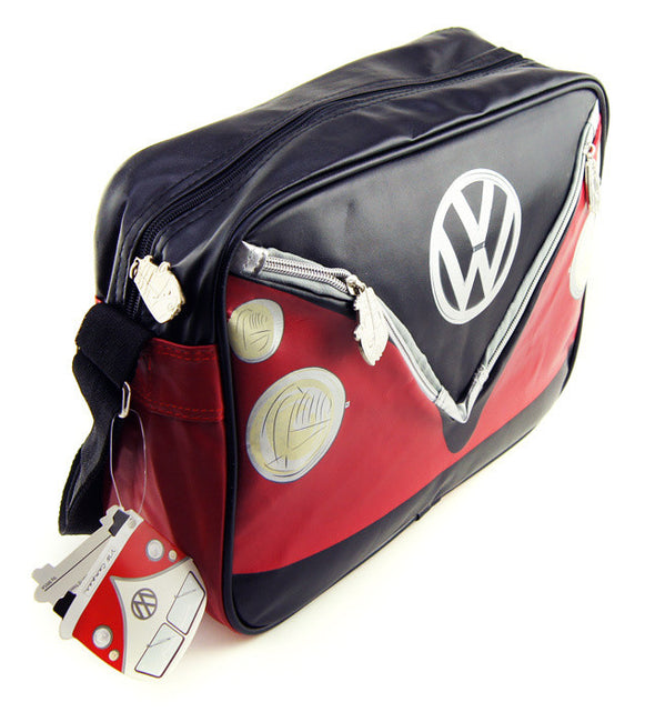Camper Deluxe Shoulder Bag-Red & Black - Cool VW Stuff  - 2