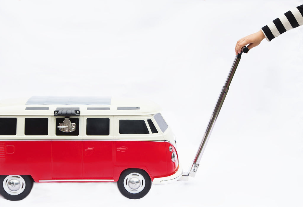 Deluxe Vw Bus Samba Red Ice Chest Cooler By Monster