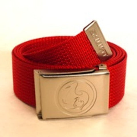 Shuvit Brand Mens Skateboard Box Frame Web Buckle Belt - Red