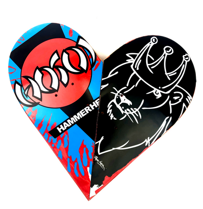Skateboard Heart Art #40