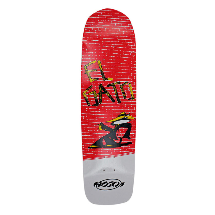"Hosoi Skateboards Eddie Elguera Alley Cat Deck– 9""x32.75""- White"