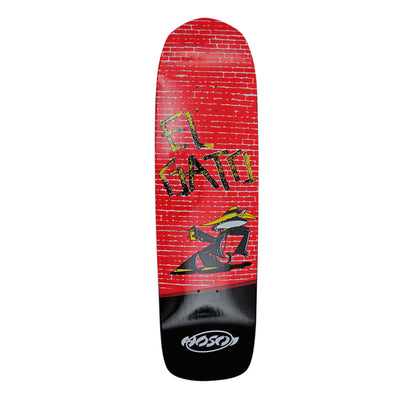 "Hosoi Skateboards Eddie Elguera Alley Cat Deck– 9""x32.75""- Black"
