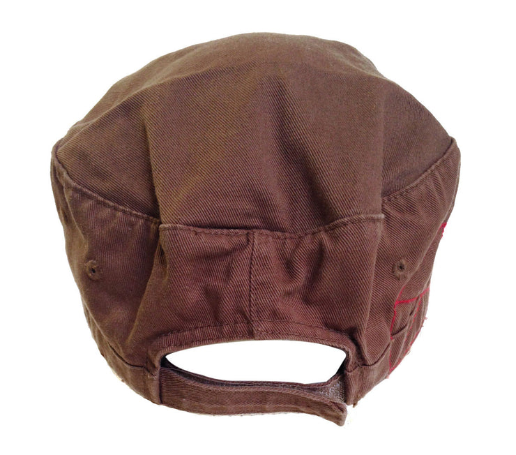 Draven Army Cap in Brown Back Shot