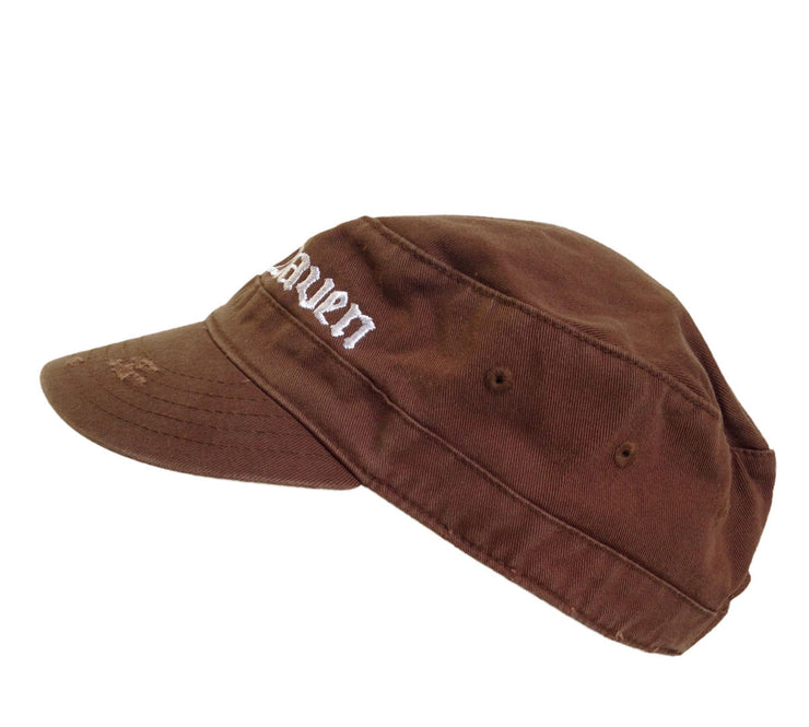 Draven Army Cap in Brown Side Shot