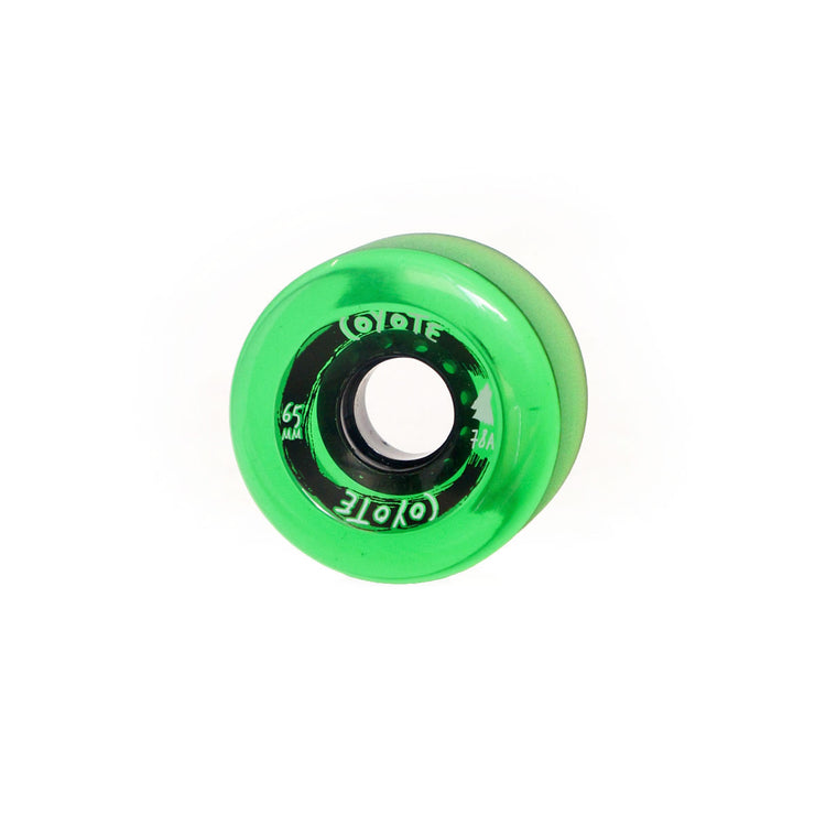 Coyote Wheels - Translucent Green - 65mm / 78A - Single
