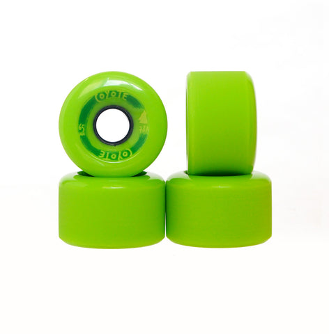 Coyote Wheels - Green - 65mm - Set