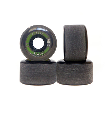 Coyote Wheels - Translucent Black - 65mm / 78A - Set