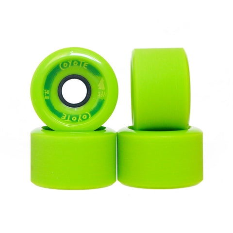 Coyote Wheels - Bright Green - 70mm / 78A - Set