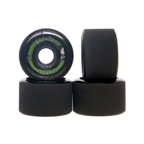 Coyote Wheels - Black - 70mm / 78A - Set