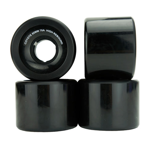Coyote Cruiser Wheels - Black - 60mm / 78A