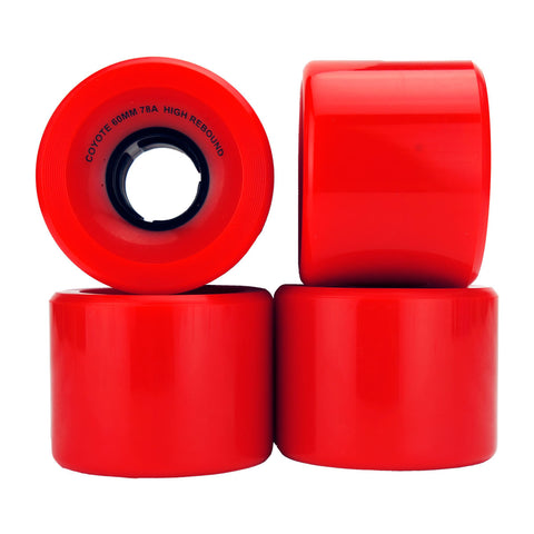 Coyote Cruiser Wheels - Red - 60mm / 78A