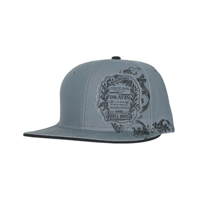 Draven Hellbent Snap-back Hat in Gray