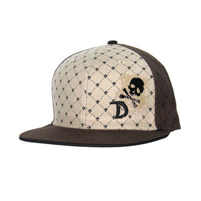 Skull Crest Brown Draven Hat