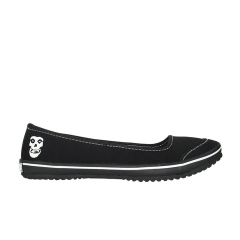 Draven Misfits Ghoul Black/White Flats Women's Shoes