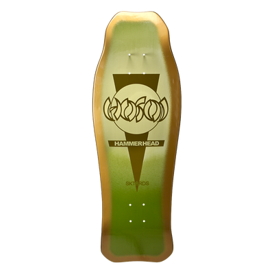 "Hosoi Hammerhead Double Kick Sunburst Deck Green - 10.25""x31"""