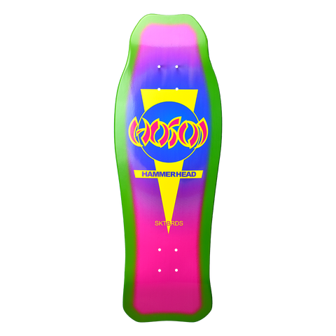 "Hosoi Hammerhead Double Kick Sunburst Deck Pink / Purple - 10.25""x31"""
