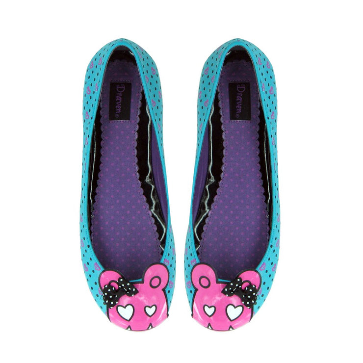 Draven Heart Monster Flats Women's Shoes