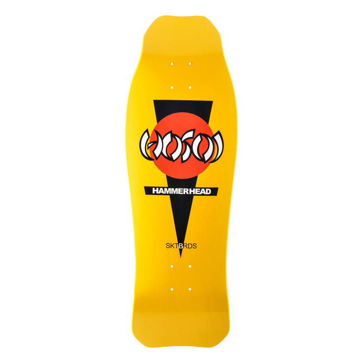 "Hosoi Skateboards Hammerhead Double Kick Deck- 10.25""x31.25""- Yellow"