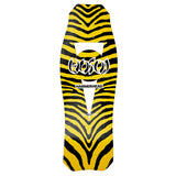 "Hosoi Skateboards O.G. Zebra Hammerhead Deck– 10.5""x31""- Yellow"