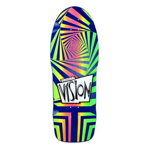 "OG Vision Original Deck Re-Release Hand Screened Rainbow Color Way - 10""x30"""