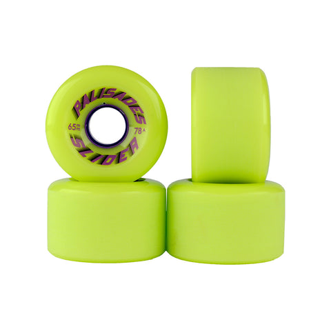 Palisades Slider Wheels- 65mm 78a- Lime