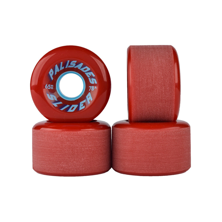 Palisades Slider Wheels- 65mm 78a- Red