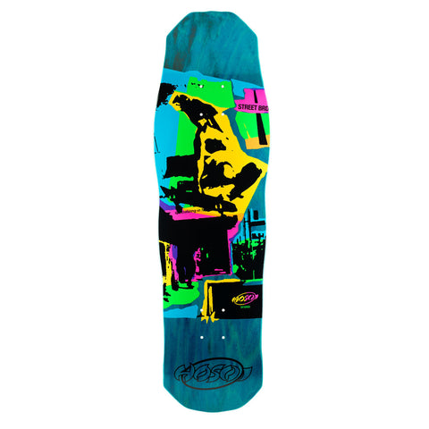 "Hosoi Skateboards Pop Art 87 (Small) Deck- 8.875""x32""- Blue"