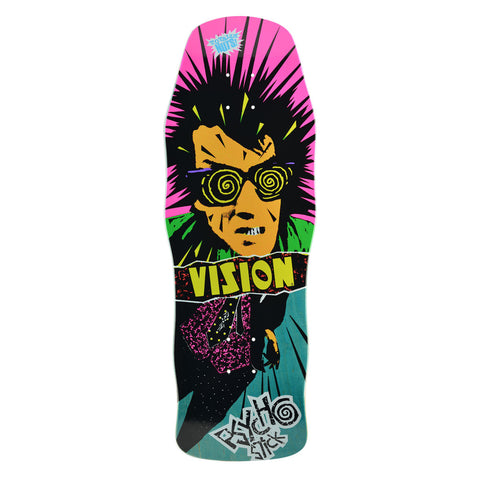 "Vision Psycho Stick Modern Concave Deck - 10""x30.25"" - Teal"