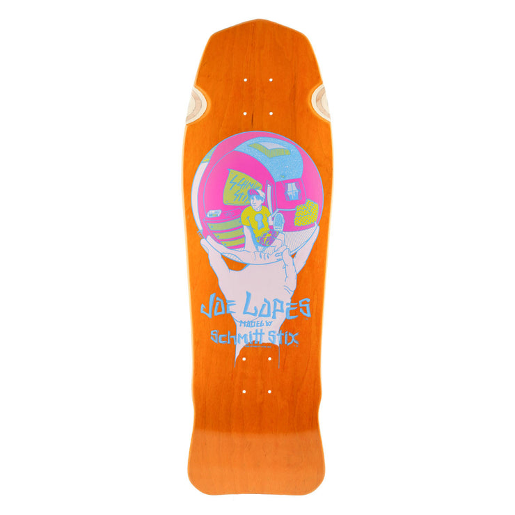 "Schmitt Stix Joe Lopes Crystal Ball Deck- 9.875""x31""- Orange/Yellow"