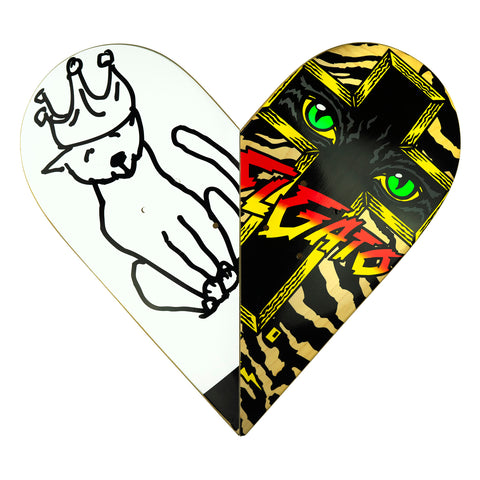 Skateboard Heart Art #14