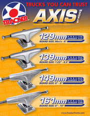 TRACKER TRUCKS - AXIS 161MM BILL DANFORTH (set)