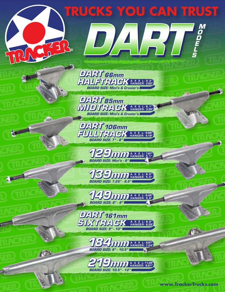 TRACKER TRUCKS - DART POLISHED 184MM