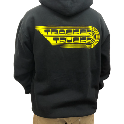 Tracker Trucks-Wings Men's Hoodie- Blk/Yel